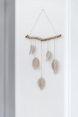Handmade macrame on the wall