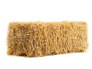dry haystack isolated
