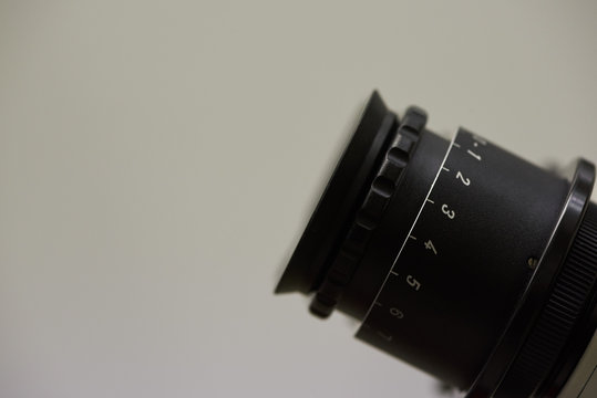 lose-up view eyepiece of surgical microscope
