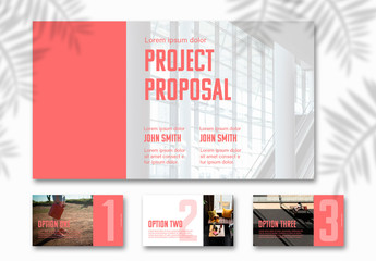 Presentation Layout with Editable Color Accents