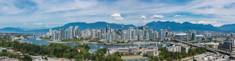 Vancouver Skyline Looking North Wall mural