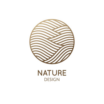 Simple logo pattern structure of water