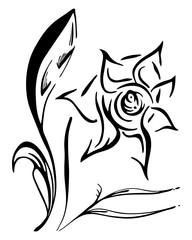 vector illustration of single flower