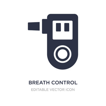 breath control icon on white background. Simple element illustration from Medical concept.