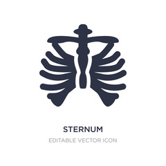 sternum icon on white background. Simple element illustration from Medical concept.
