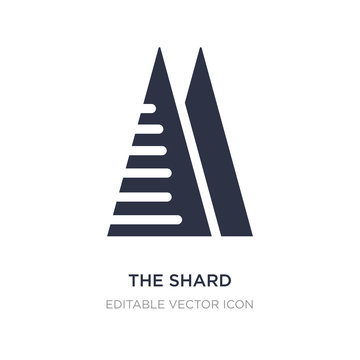 the shard icon on white background. Simple element illustration from Monuments concept.