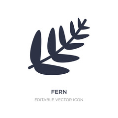 fern icon on white background. Simple element illustration from Nature concept.