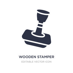 wooden stamper icon on white background. Simple element illustration from Other concept.