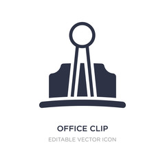office clip icon on white background. Simple element illustration from Other concept.