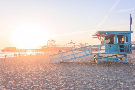 Dreamy sunset in Santa Monica