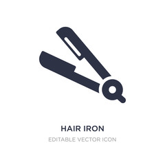 hair iron icon on white background. Simple element illustration from Tools and utensils concept.