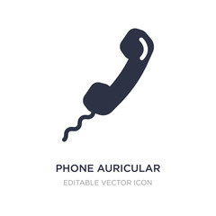 phone auricular with cable icon on white background. Simple element illustration from Tools and utensils concept.