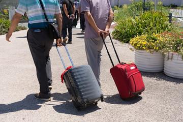 博多港に着いた外国人旅行客