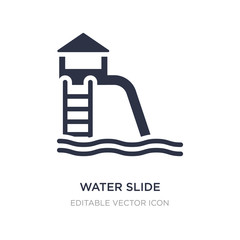 water slide icon on white background. Simple element illustration from Travel concept.
