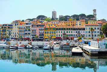 Old city and harbor in Cannes, French Riviera, France Wall mural