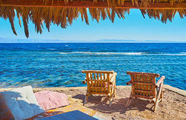 Relax with a view on sea, Dahab, Sinai, Egypt
