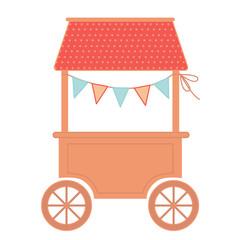 food cart flat illustration on white