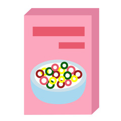cereal flat illustration on white