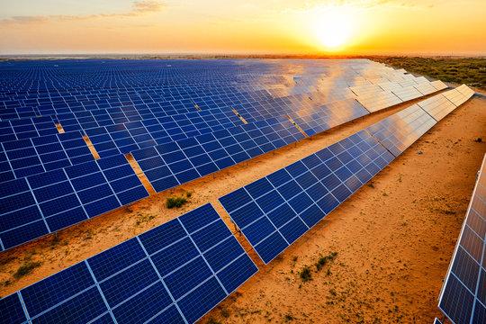 Aerial solar photovoltaic panel base in aerial desert
