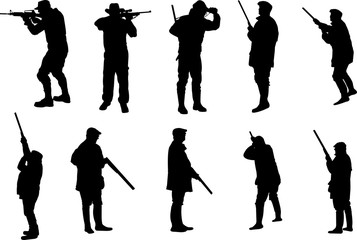 Hunting Silhouette Shape Vector
