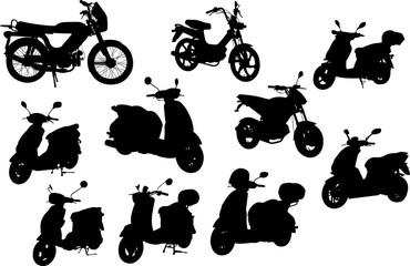 Moped Silhouette Shape Vector
