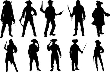 Pirate Silhouette Shape Vector