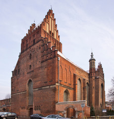 Church of Saints Peter and Paul in Gdansk. Poland