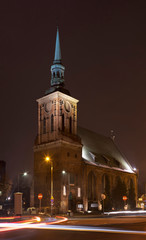 Church of St. Barbara in Gdansk. Poland