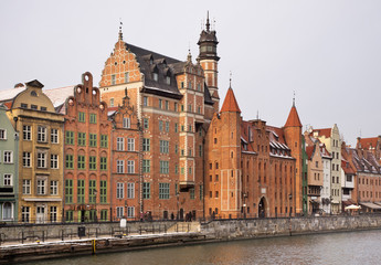 Dluga embankment in Gdansk. Poland