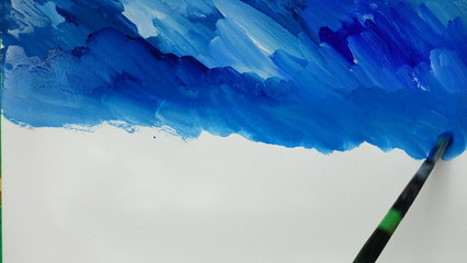 Drawing of the sea and sky.