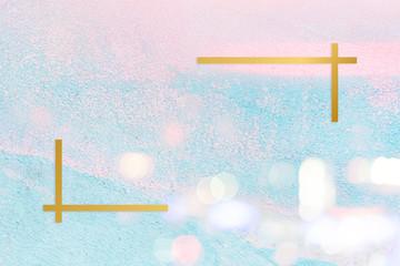 Pastel stucco backdrop frame