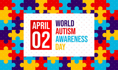 World autism awareness day. Designed for banner, background, print, etc. Suitable for your business - Vector