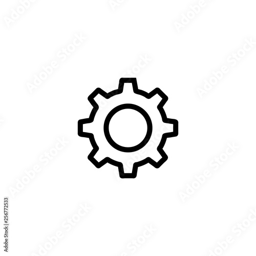 Cog icon vector isolated on background  Trendy sweet symbol