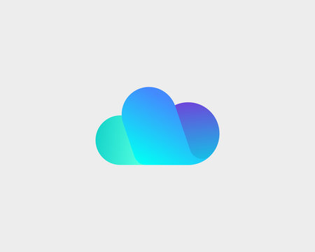 Abstract cloud logo design. Storage weather creative vector logotype.