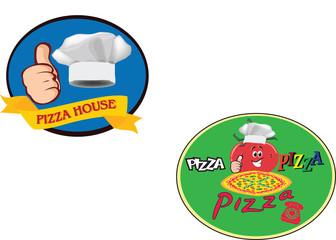 adesivo con immagine di pizza