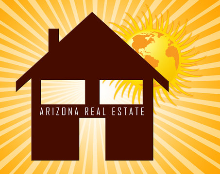 Arizona Real Estate House Represents Purchasing Or Buying In Az Usa 3d Illustration