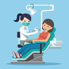 Dentist woman vector