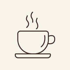 Coffee line icon