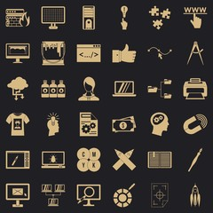 Website icons set. Simple style of 36 website vector icons for web for any design