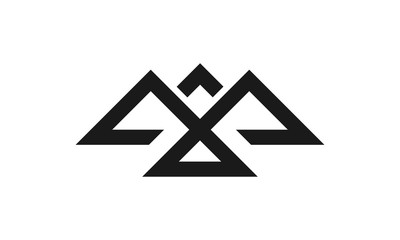 Mountain Freedom Logo Negative space eagle