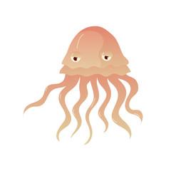 Octopus on white background. Vector flat illustration.