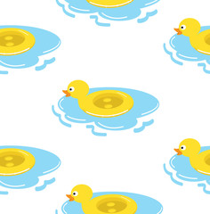 duck float ring seamless pattern
