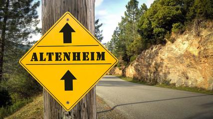 Schild 349 - Altenheim