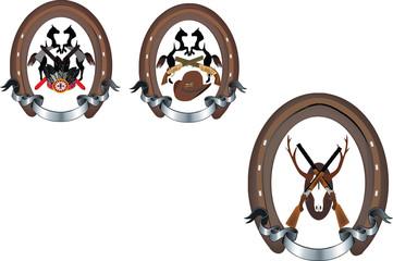 adesivo forma ferro cavallo con immagine