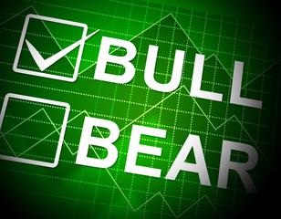 Bull Vs Bear Market Graph Means Profit Or Loss Investment Trading 3d Illustration