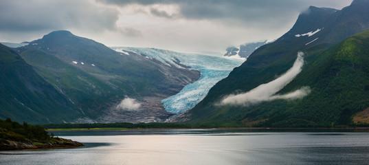 Lake Svartisvatnet and Svartisen Glacier, Norway