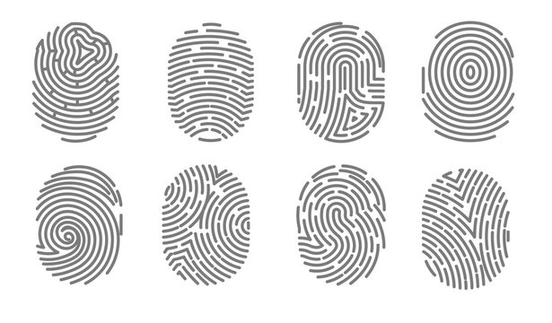 Security access human fingerprint authorization system electronic signature