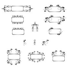 Set decorative frames and decorative elements