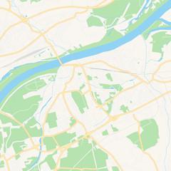 Braunau am Inn, Austria printable map