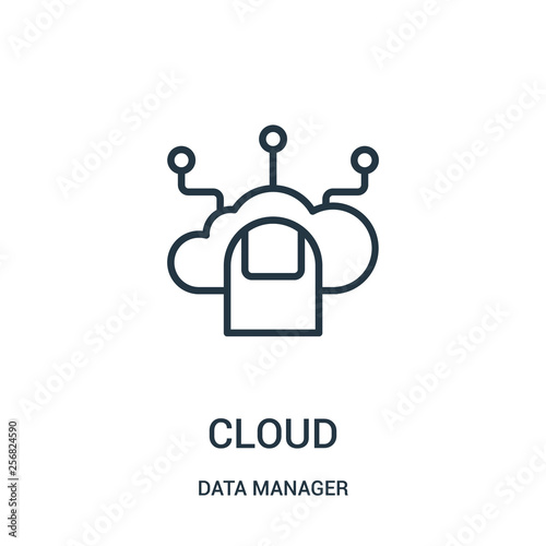 cloud icon vector from data manager collection  Thin line